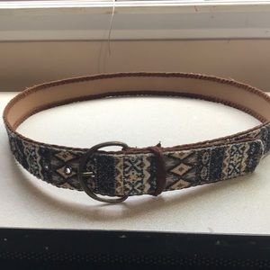 Suede and fabric plus size belt
